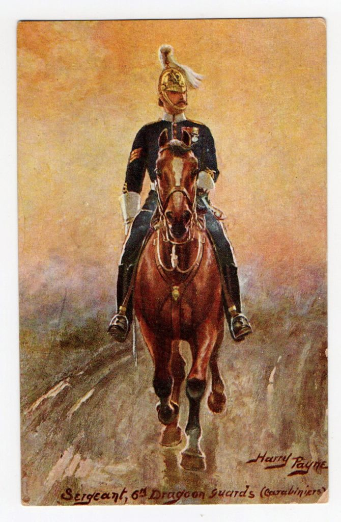 "Поштова листівка. ""Harry Payne. Sergeant, 6th Dragoon guards (carabiniers)"""