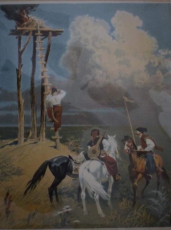 Мистецтво. Естамп-картина кольорова. «Вартові».