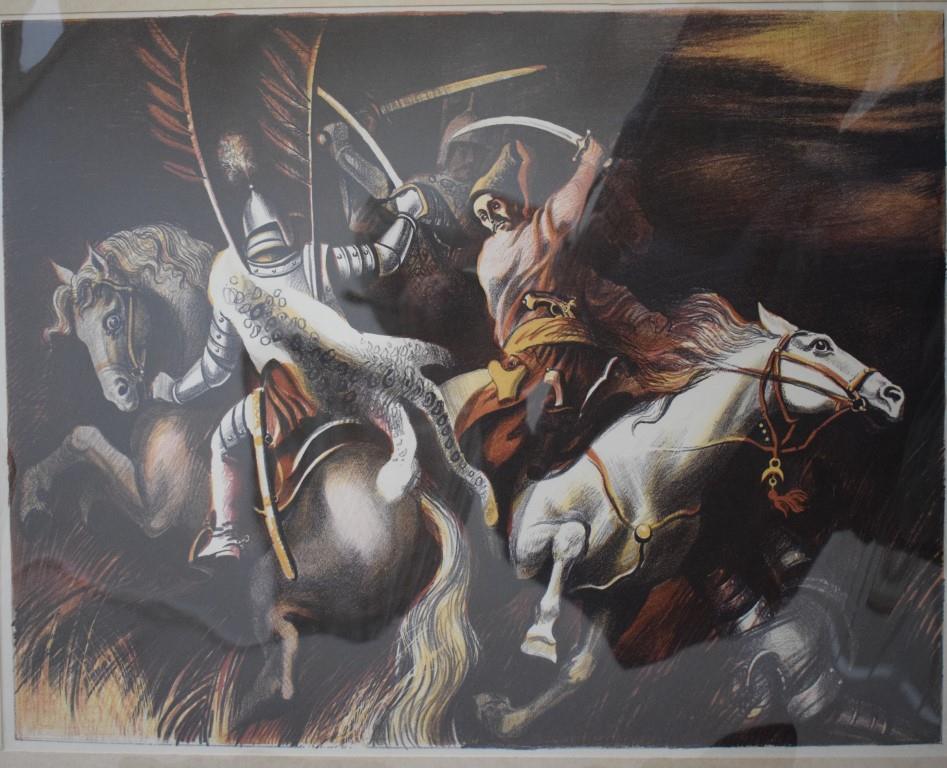 Мистецтво. Естамп-картина кольорова. «Відбивають напад ляхів»