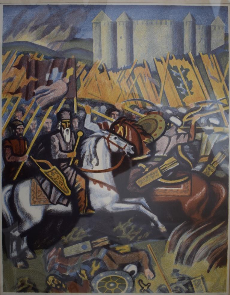 Мистецтво. Естамп-картина кольорова. «Хотинська битва»