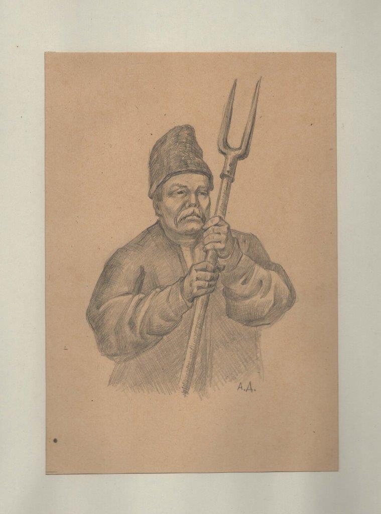 """Мистецтво. Малюнок. Серія «Домніч А.Т. """"Типи козаків і бандуристів»"""
