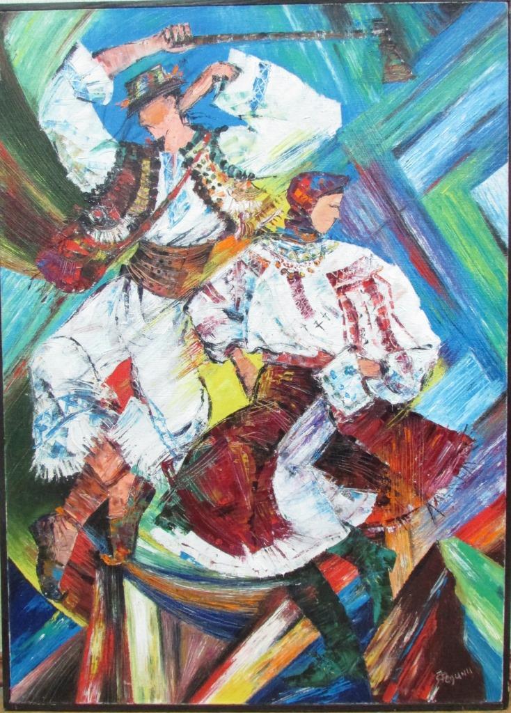 """Мистецтво. Живопис. """"Роман та Надія Федина """"Гуцульські танці"""""""