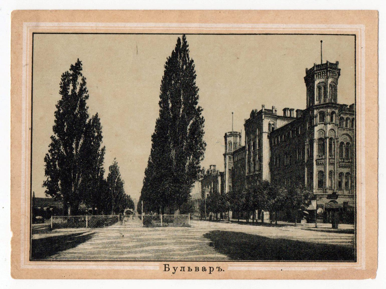 """Поштова листівка з альбому """"Виды Кіева"""". """"Бульваръ"""""""