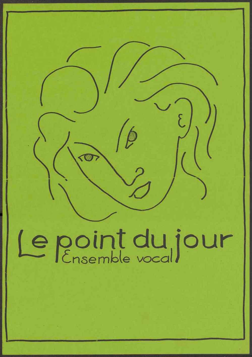 """Плакат. Афіша """"Le point du jour. Ensemble vocal"""""""