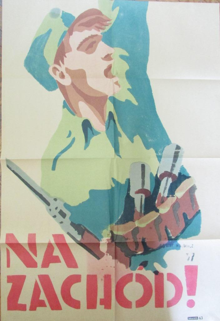 """Документ. Факсиміле. """"Плакат відділу пропаганди Політико-виховного управління Війська Польського."""""""
