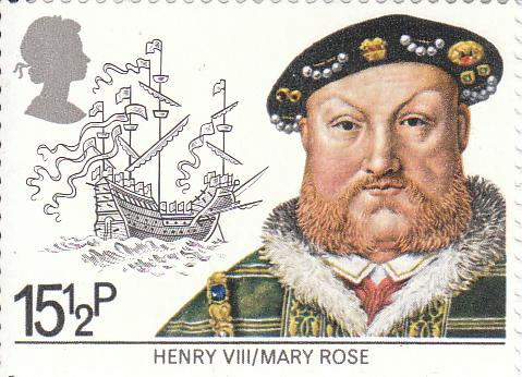 "Марка поштова негашена. ""Henry VIII / Mary Rose"""