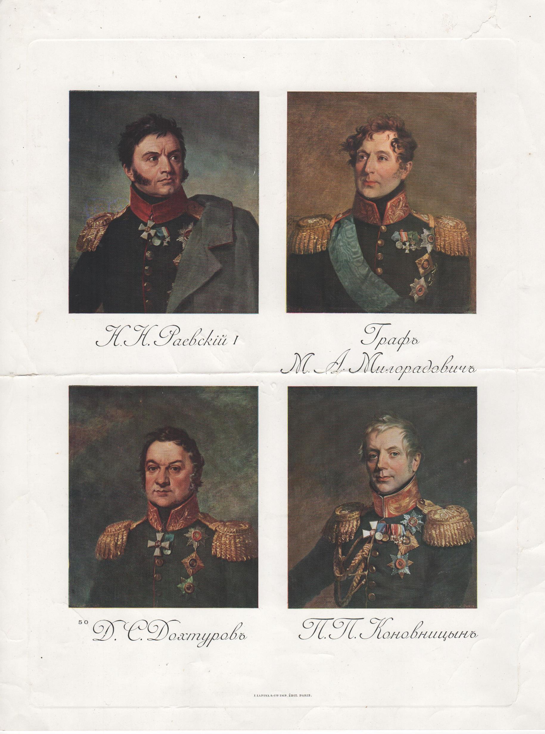 """Мистецтво. """"Репродукція погрудних портретів видатних діячів, учасників Наполеонівських війн"""""""