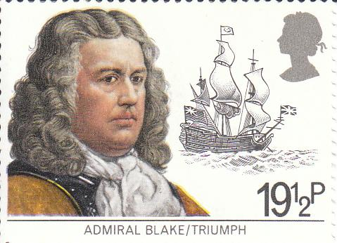 "Марка поштова негашена ""Admiral Blake/Triumph"""
